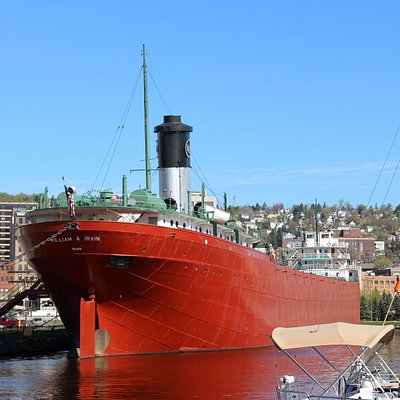 SS William A Irvin riding high dockside