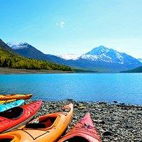 Copyright Nicole Geils - Kayaking Eklutna Lake