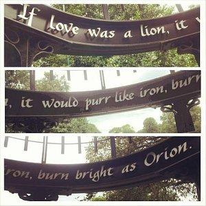 Phrases in Mowbray Park.