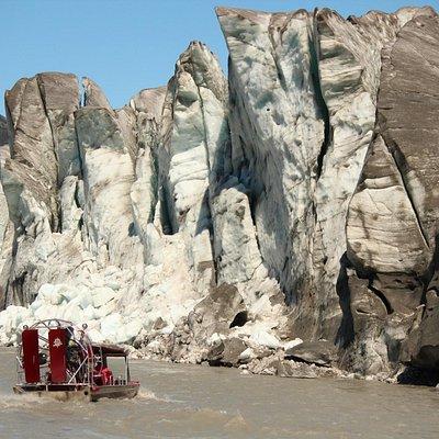 The impressive Taku Glacier.