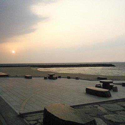 瀬戸内海と夕日