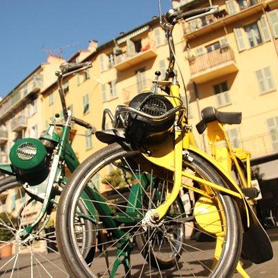 Solex dans les rues de Nice