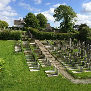The Jewish burial ground at the top/eastern side ,