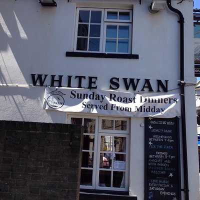 White swan in swanage