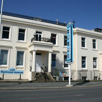 Overlooking the docks and Morecambe Bay, Fleetwood Museum is a Grade II listed building