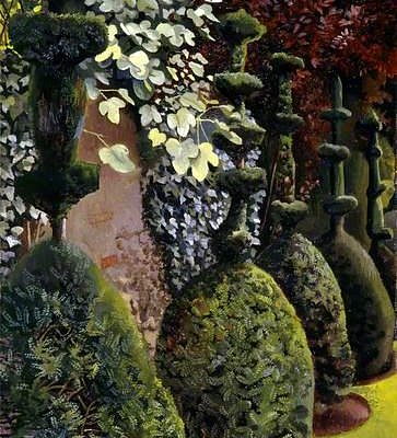 Clipped Yews, 1935  Lent by Aberdeen Art Gallery & Museums Collections