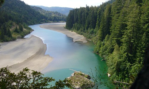 One of many views of the wild & scenic Eel River near the Avenue of the Giants.