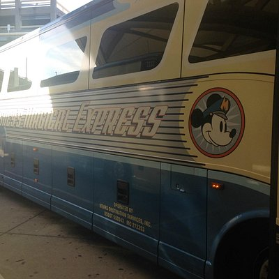 Magical Express outside of the Orlando Airport