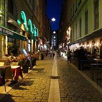 rue des marronniers - food street in Lyon