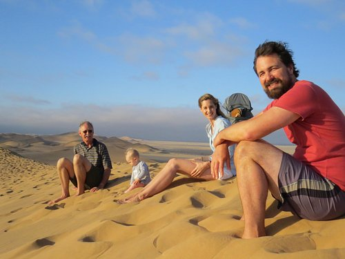 Our family waiting out 2014 on top of Dune 7
