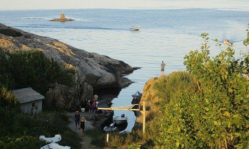 Adgang til sjøen fra campingplassen