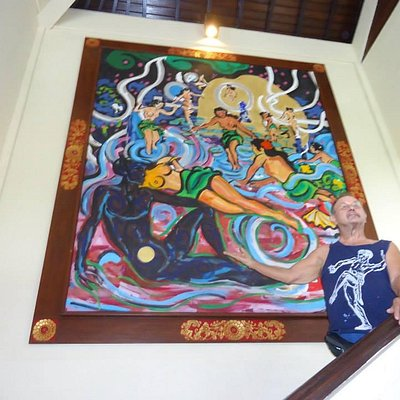 SYMON , AMERICAN ARTIST , at the Ayung River Resort Ubud