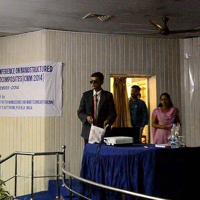 Prof.Mainak Ghosal presenting his paper at ICNM-2014