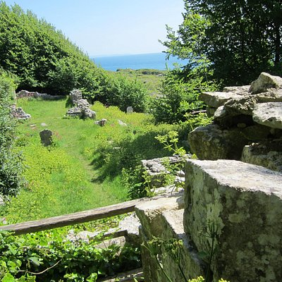 Ruins view from upper path