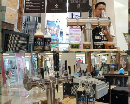 Gambino Coffee, 2nd floor Gandaria City. Its not beer, its cold brew coffee in bar setting, it's
