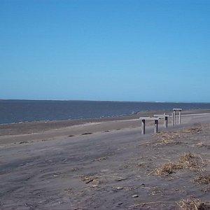 Desembocadura del Río Negro en el mar