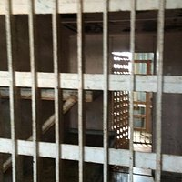 Old jail! Where famous Jesse James was arrested.
