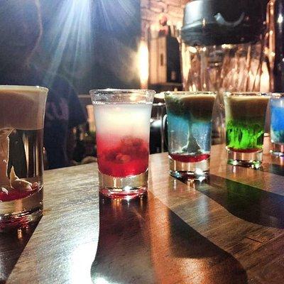 Shots to make you feel tipsy.