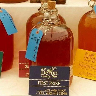 First Prize for Woodsys SunRise Medium Cider.