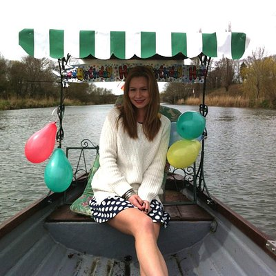 On a surprise date on a rowboat
