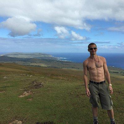 Topo da ilha. 530 metros. 360º. Demais.