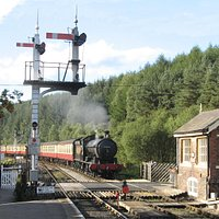 Arriving at Levisham Station - Philip Benham