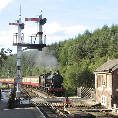 Arriving at Levisham Station - Philip Benham