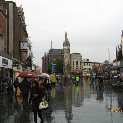 Down Granby Street towards Clock Tower