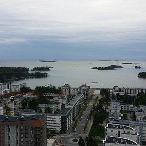 View of Aurinkolahti from the Cirrus-tower