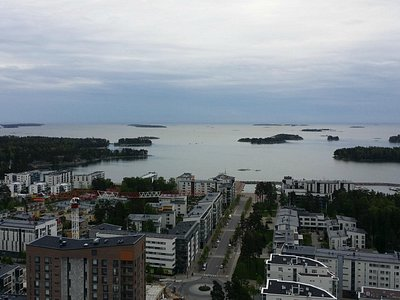 View of Aurinkolahti from the Cirrus-tower