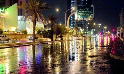 after a short rain spell