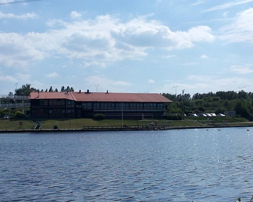 Sale Water Park. View of Waterside Restaurant in the background.
