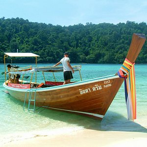 Our beautiful longtail boat