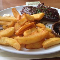Beautiful steak and chips