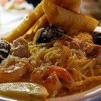 Home Made Seafood Linguini