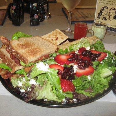 Incredible salad and sandwich