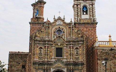 Fachada del Templo de San Francisco Acatepec