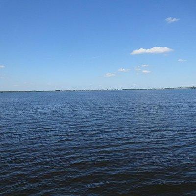 op het open water bij Hilversum