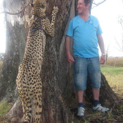 The Cheetah and me ( big girl isn't she )