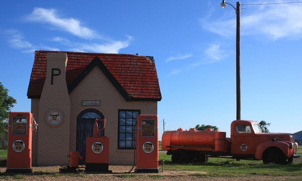 Restored Phillips 66 gas station