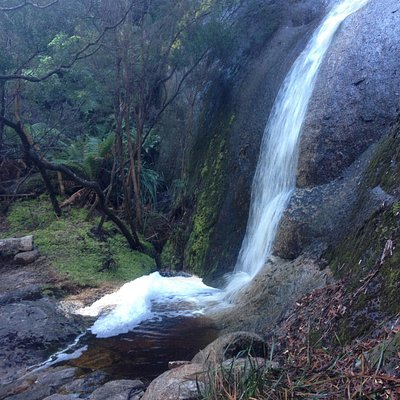 One of the trail side waterfalls