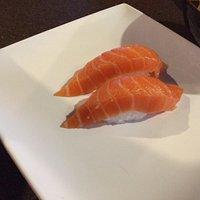 Salmon and tuna and house salad.