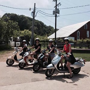 Scooters to the winery!