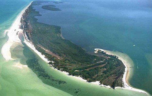 Anclote Island aerial view. Rent a boat from Island Marine Rentals to get there