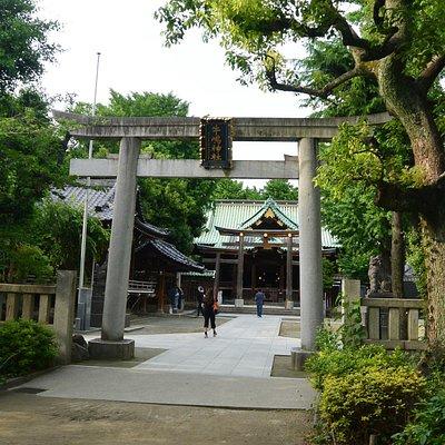 隅田川公園となりのひっそりとした神社