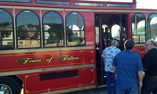 Take a tour of Fulton. Visit local businesses and attractions on the Fulton Trolley