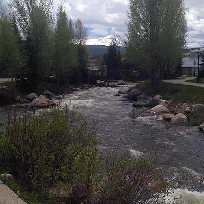 Stretch from Frisco to Breckenridge follows a stream most of the way