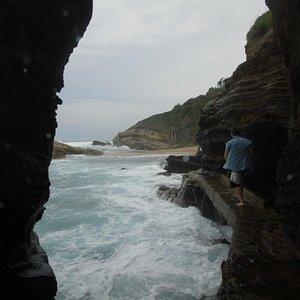 "Thompson Bay Beach ""hole in the wall"""""