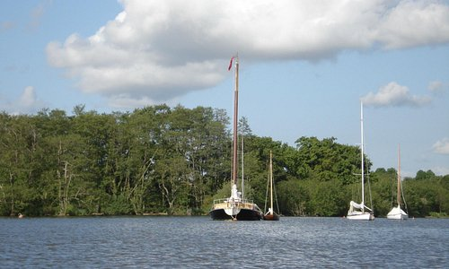 sailing boats on Salhouse Broad