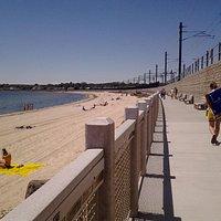 Niantic boardwalk and beach..